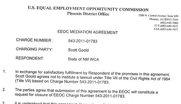 EEOC Mediation Agreement